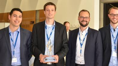 vier Gewinner des MINT-Awards Technik