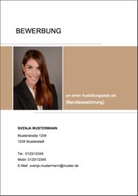 Bewerbungsmappe Deckblatt Mit Bild