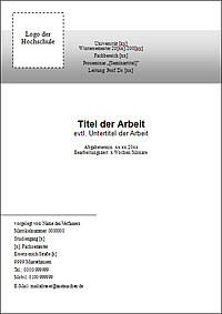 Deckblatt Für Die Hausarbeit Tipps Muster Vorlagen